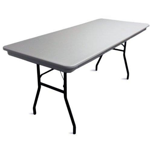 Our Commercialite Rectangular Polyethylene Folding Table with Locking Legs - 96