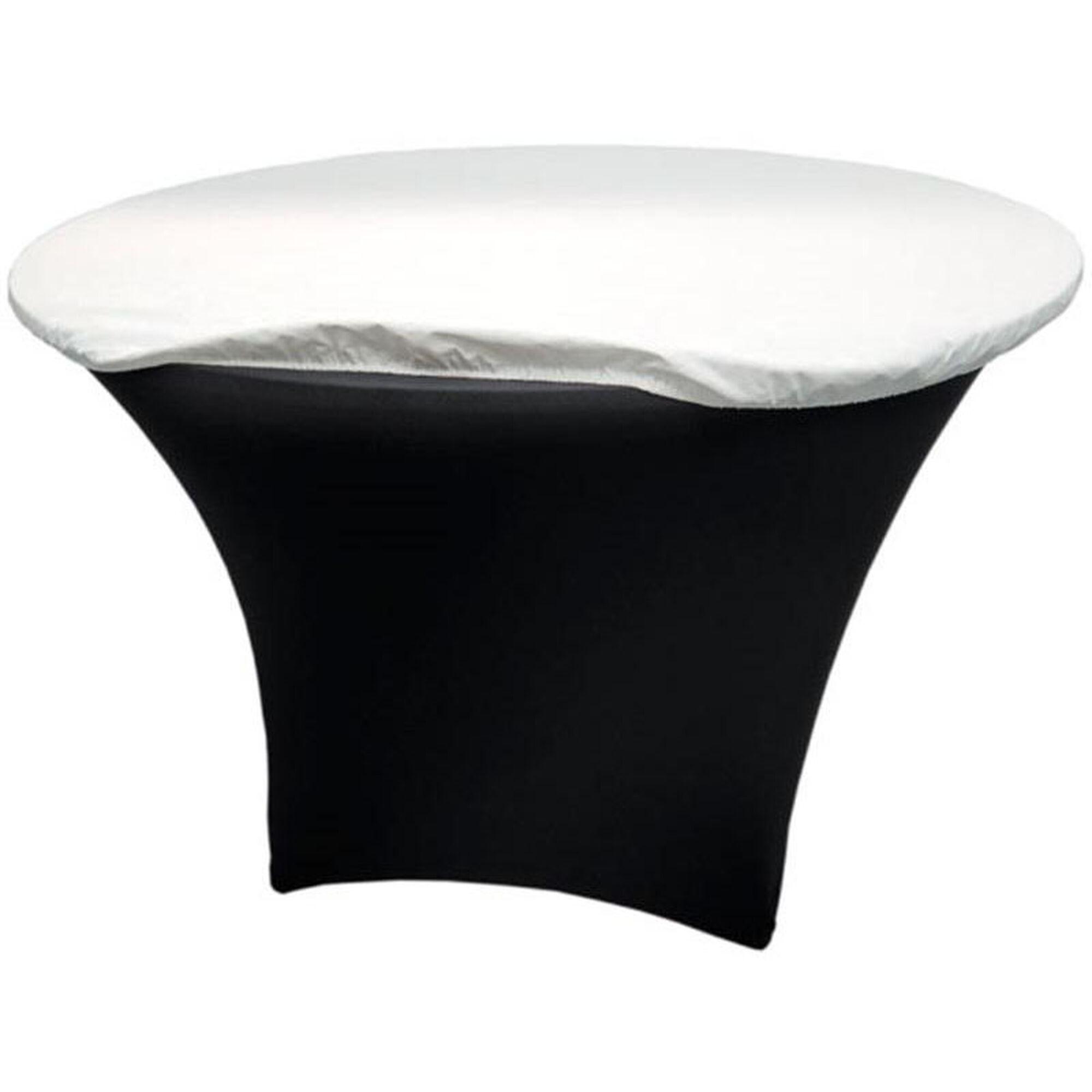Snap drape 72 39 39 round vinyl felt back table padding for Html table padding