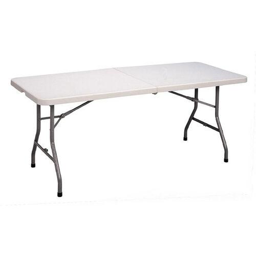 Economy Blow-Molded Rectangular Plastic Top Folding Table - 30