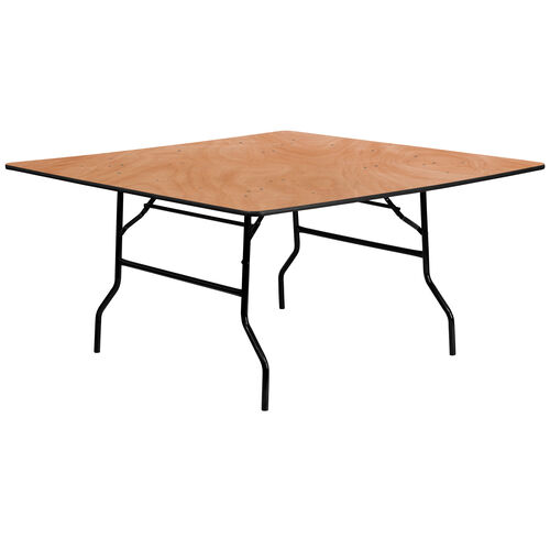 Our 5-Foot Square Wood Folding Banquet Table is on sale now.