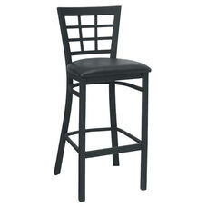 Window Back Metal Barstool - Grade 4 Vinyl