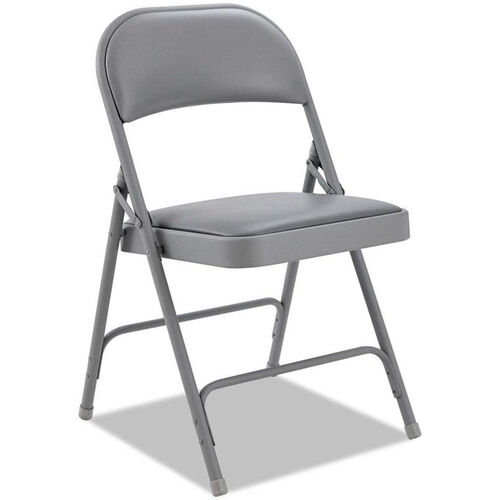 Our Alera® Traditional Steel Folding Chair with Padded Vinyl Back and Seat - Set of Four - Light Gray is on sale now.