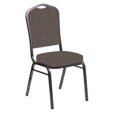 Crown Back Banquet Chair in Ravine Bark Fabric - Silver Vein Frame