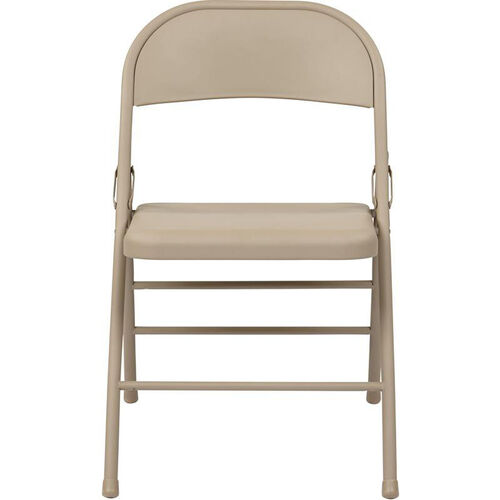 Our Work Smart Folding Chair with Metal Seat and Back - Set of 4 - Tan is on sale now.