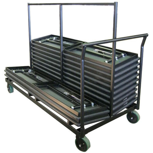 Heavy Duty Double Stacking Table Truck with Welded Steel Iron Construction - 36