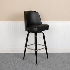 Metal Barstool with Swivel Bucket Seat