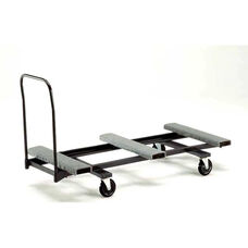 Heavy Duty Steel Rectangular Table Caddy with Swivel Casters - 31.25