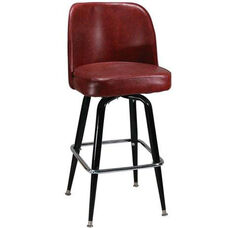 Swivel Barstool with a Single Ring