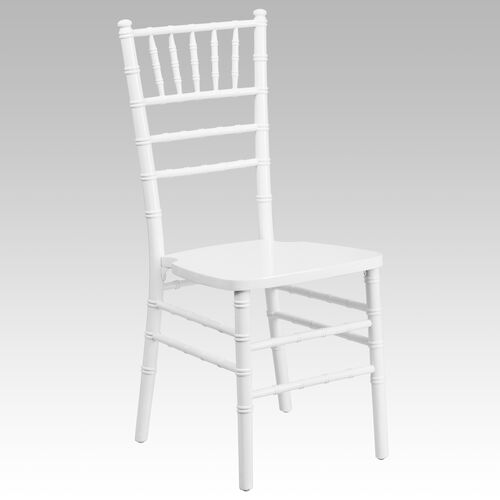 "Our HERCULES Series White Wood Chiavari Chair with <span style=""color:#0000CD;"">Free </span> Cushion is on sale now."