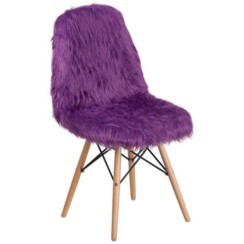 Superb Shaggy Dog Purple Accent Chair Machost Co Dining Chair Design Ideas Machostcouk