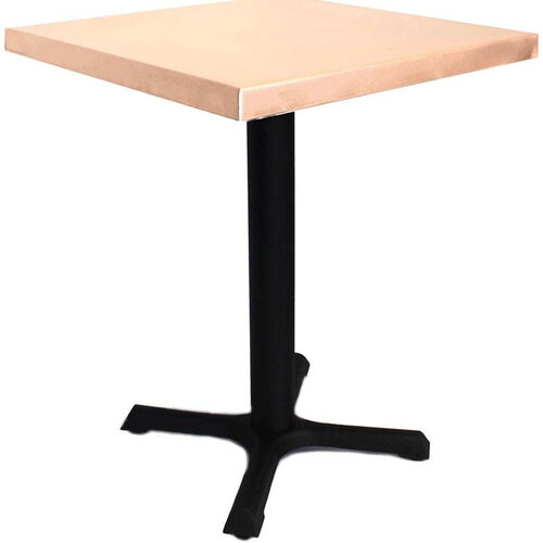 Square Copper Table with Steel Base - 30