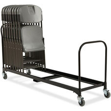 Rough 'N Ready 34 Chair Capacity Folding Chair Cart - Black