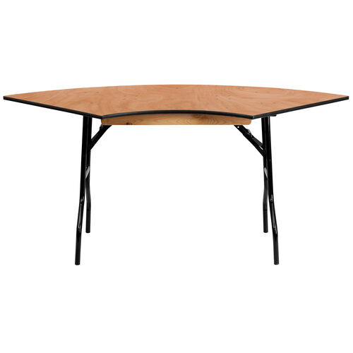 Our 5.5 ft. x 2.5 ft. Serpentine Wood Folding Banquet Table is on sale now.