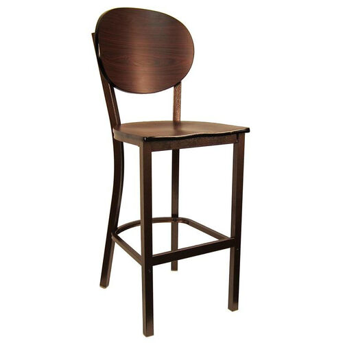 Our Metal Barstool with Round Back and Veneer Seat is on sale now.