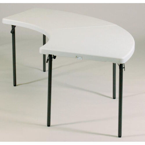 Our Blow-Molded Plastic Top Serpentine Food Service Table - 30