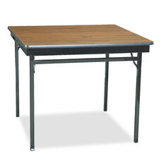 Barricks Manufacturing Company Special Size Folding Table - Square - 36w x 36d x 30h - Walnut/Black