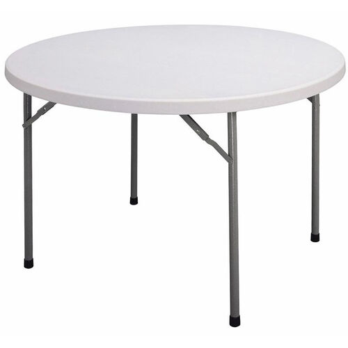 Our Blow-Molded Plastic Top Round Food Service Table - 60