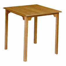 160 Dining Table: Shaped Top with Square Legs