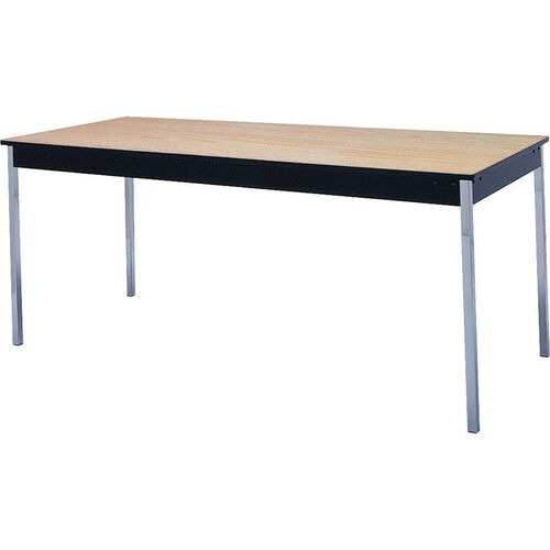 Stationary Series Rectangular Conference Table with Vinyl Flush Edge and Laminate Top - 24