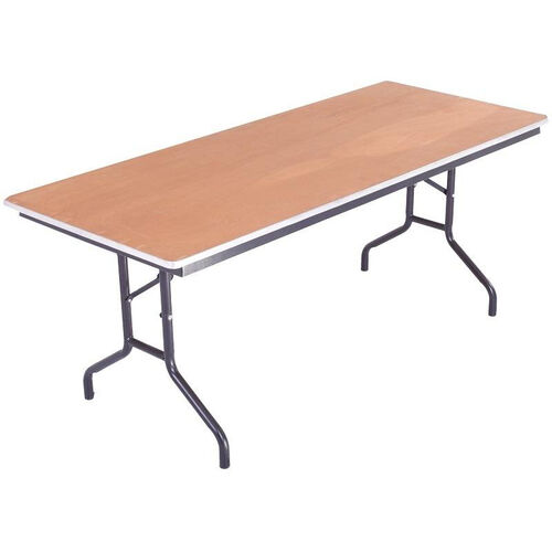 Our Sealed and Stained Plywood Top Table with Aluminum T - Molding Edge - 36