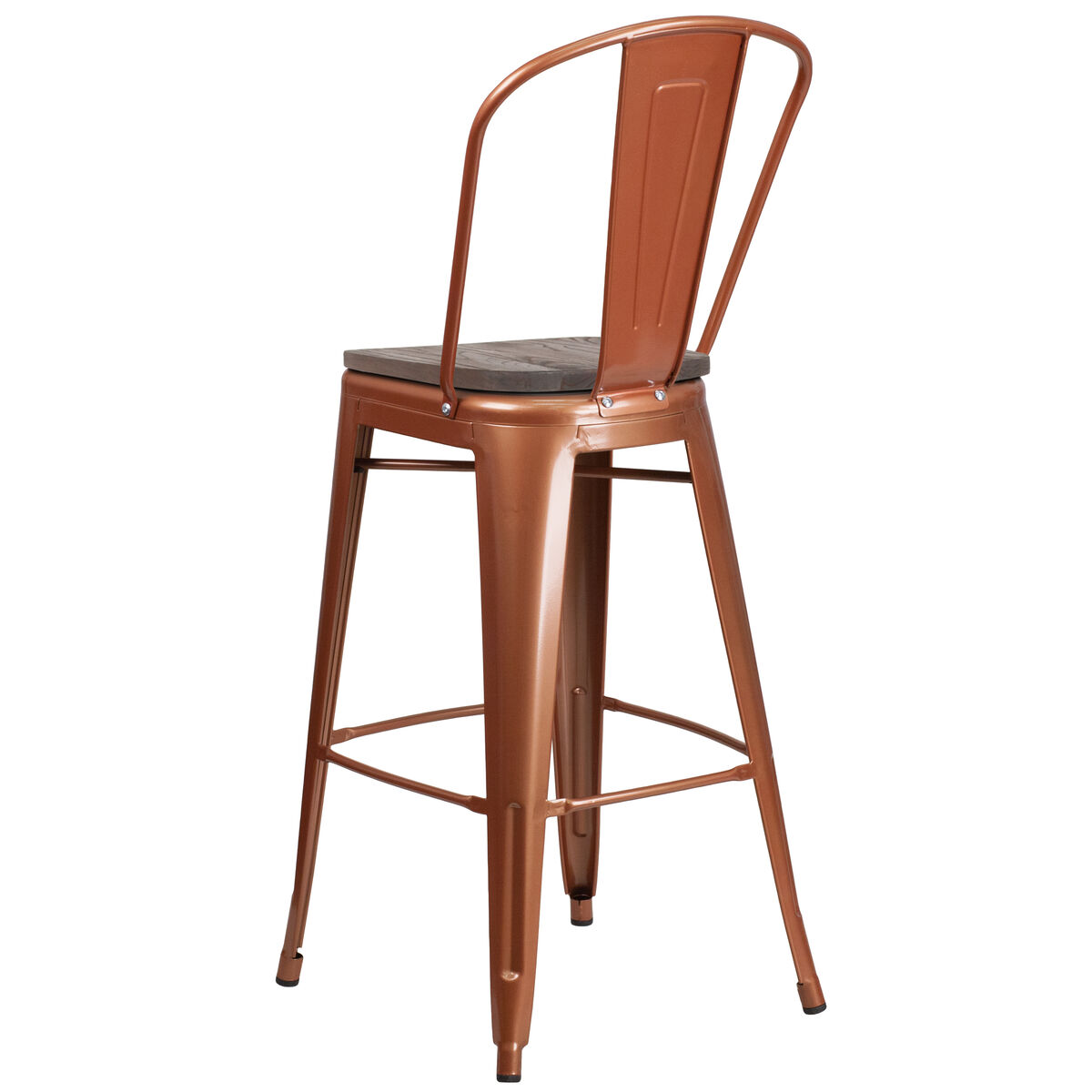 30 Copper Metal Bar Stool Et 3534 30 Poc Wd Gg Bestchiavarichairscom