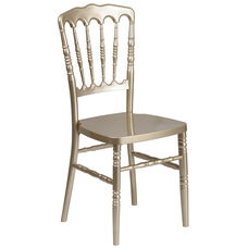 HERCULES Series Gold Resin Stacking Napoleon Chair