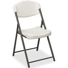 Rough 'N Ready Economy 33.5'' H Folding Chair - Set of Four - Platinum