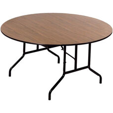Round Laminate Top and Plywood Core Folding Seminar Table - 72'' Diameter x 29''H