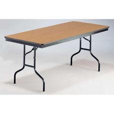 EF Series Long Rectangular Plywood Core Folding Table - 30''W x 96''L x 30''H