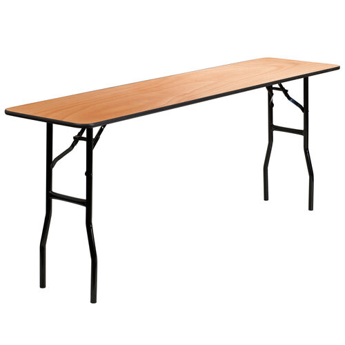 Our 6-Foot Rectangular Wood Folding Training / Seminar Table with Smooth Clear Coated Finished Top is on sale now.