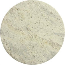 Natural Granite Round Outdoor Kashmir White Tabletop - 24