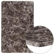"30"" x 48"" Rectangular Gray Marble Laminate Table Top"
