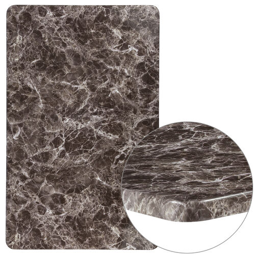 """Our 30"""" x 48"""" Rectangular Gray Marble Laminate Table Top is on sale now."""