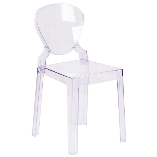 Our Ghost Chair with Tear Back in Transparent Crystal is on sale now.