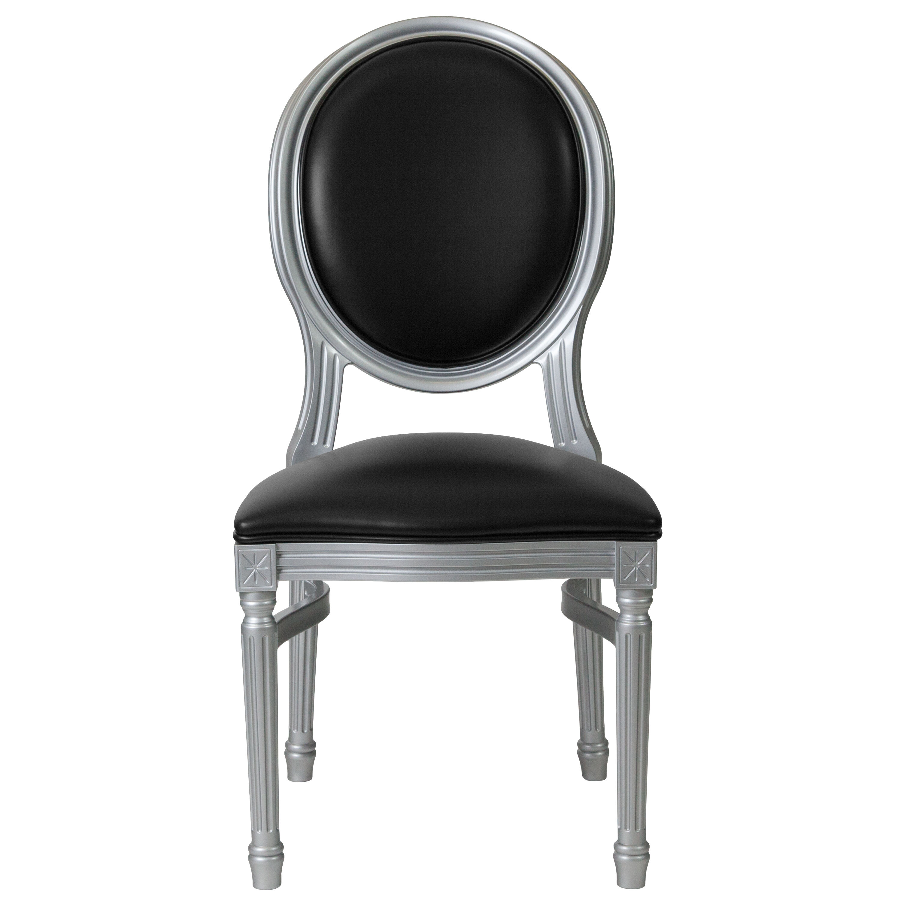 Capacity King Louis Chair With Black Vinyl Back And Seat