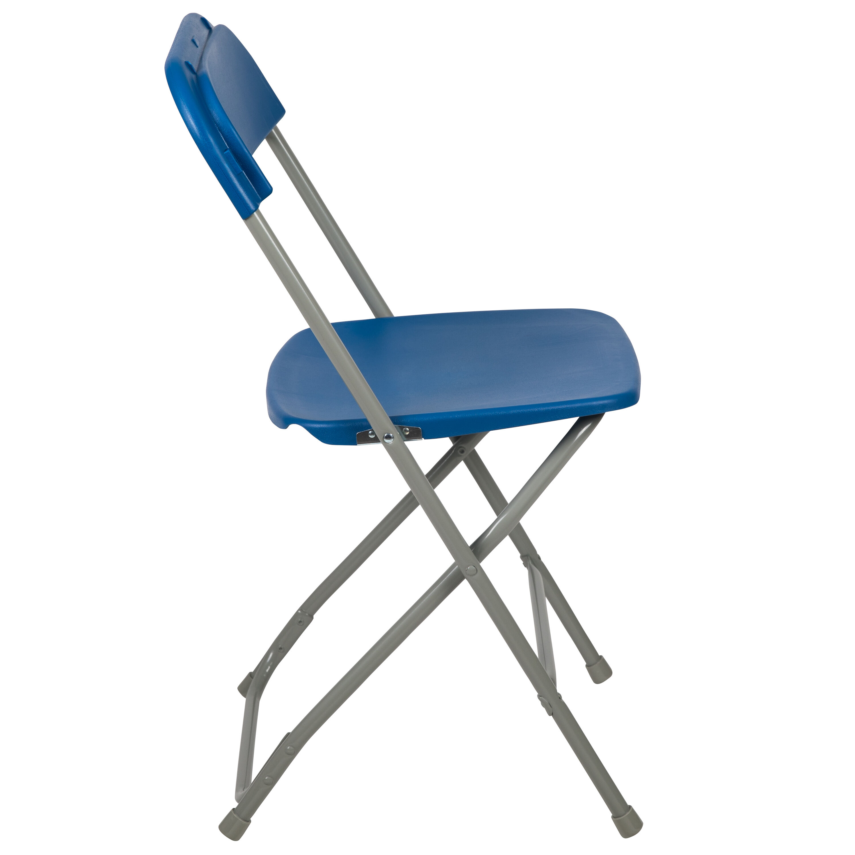 Flash Furniture HERCULES Series 800 Lb. Capacity Premium Blue Plastic Folding  Chair LE L 3 BLUE GG | BestChiavariChairs.com