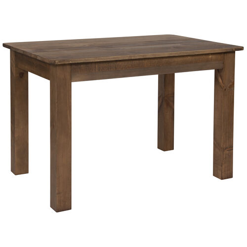 """Our 46"""" x 30"""" Rectangular Antique Rustic Solid Pine Farm Dining Table is on sale now."""