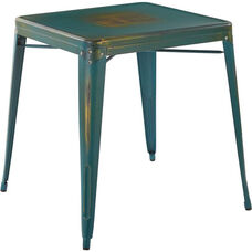 OSP Designs Bristow Metal Table - Antique Turquoise