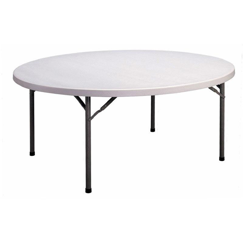 Our Economy Blow Molded Round Plastic Top Folding Table   71