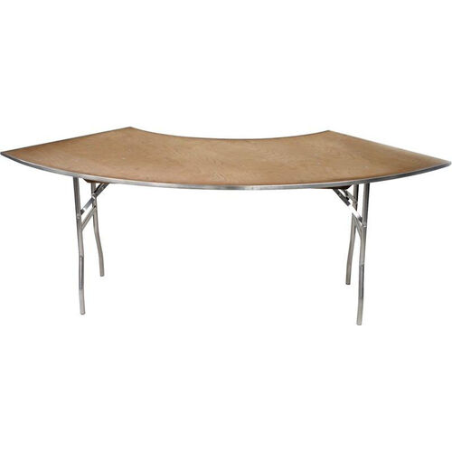 Our Standard Series Crescent Banquet Table with Plywood Top - 30