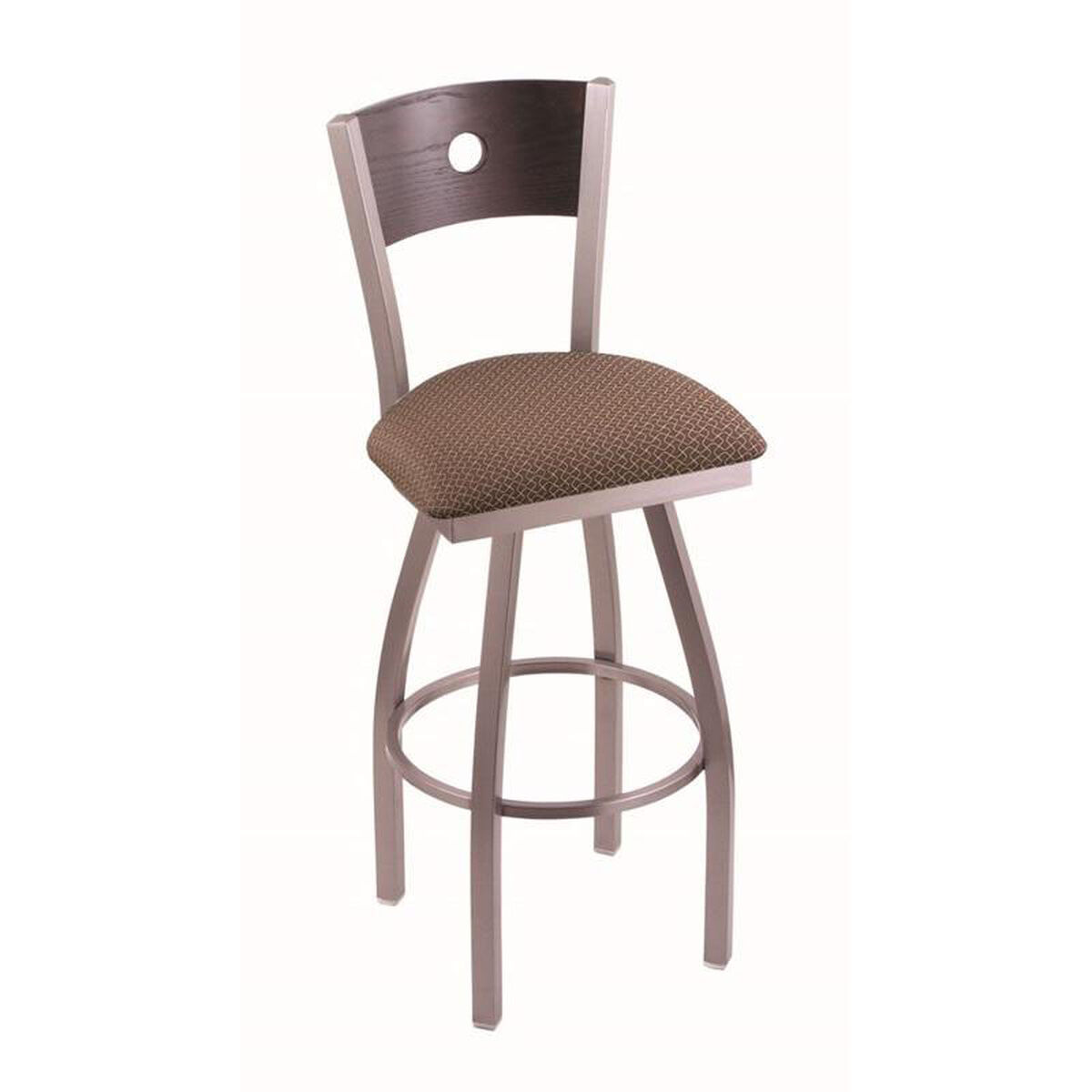 Voltaire Fabric Swivel Stool 83025ssdcoakbaxswil