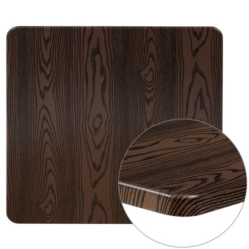 """Our 30"""" Square Rustic Wood Laminate Table Top is on sale now."""