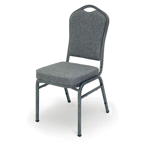 Superb Seating Heavy-Duty Steel Frame Fabric Upholstered Stacking Chair - Charcoal