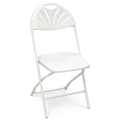 Our Series 5 Steel Frame Stackable Fanback Folding Chair with Polypropylene Seat and Back - White is on sale now.