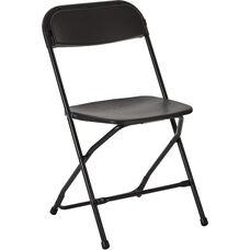 Work Smart Plastic Folding Chair - Set of 10 - Black