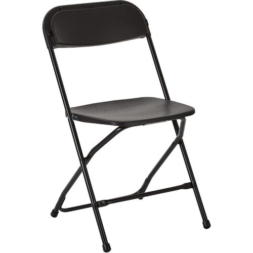 Our Work Smart Plastic Folding Chair - Set of 10 - Black is on sale now.