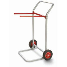 Steel Frame Folding Chair Dolly with 8'' Rubber Wheels - 28''W x 22.5''D
