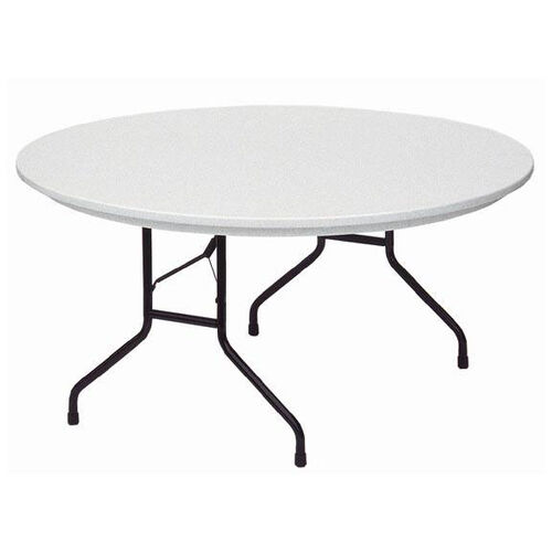 Our Standard Fixed Height Blow-Molded Plastic Top Round Folding Table - 60