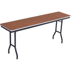 Sealed and Stained Plywood Top Table with Aluminum T - Molding Edge - 18
