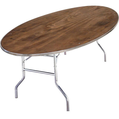 Standard Series Oval Banquet Table with Plywood Top - 96